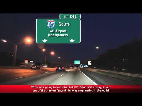 Atlanta Freeways At Night