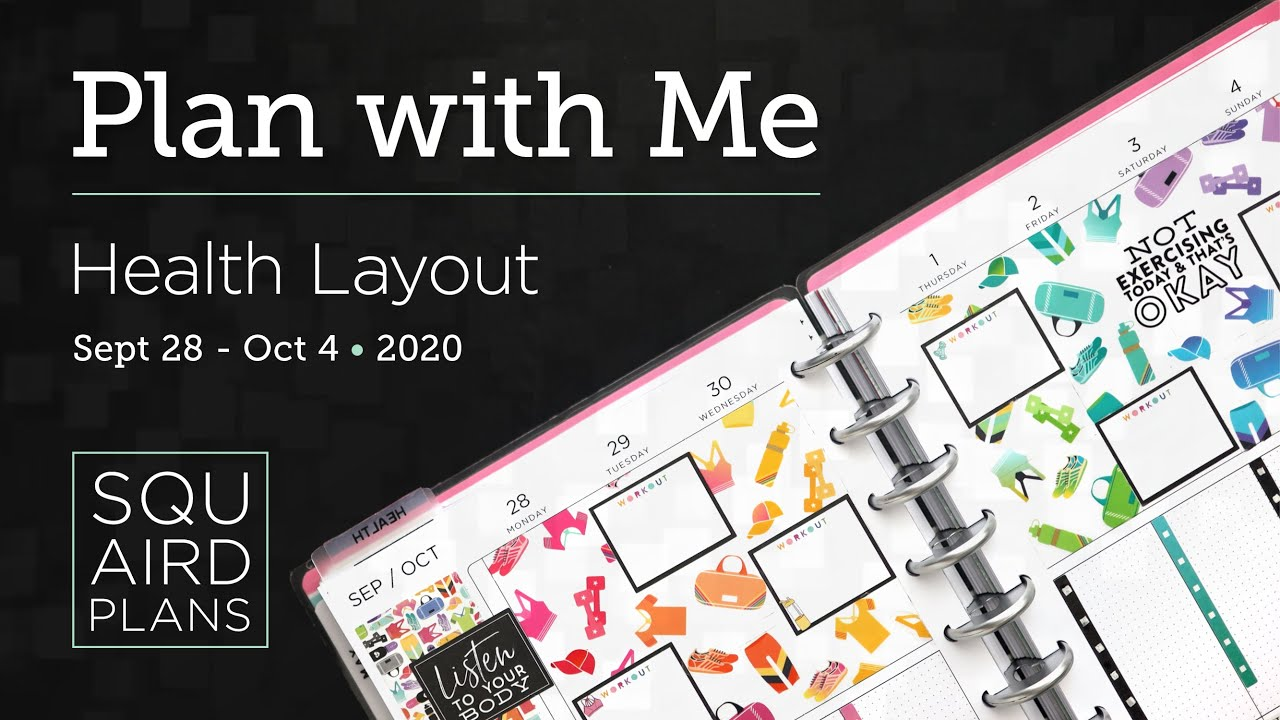 Plan with Me :: Rainbow Brights :: Squaird Plans Health Layout :: Classic Happy Planner :: 2020