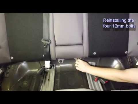 Removing Subaru Impreza Rear Seat For Seat Belt