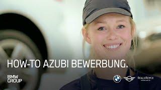 How-To Azubi Bewerbung | Wie bewerbe ich mich für eine Ausbildung bei BMW | BMW Group Careers.