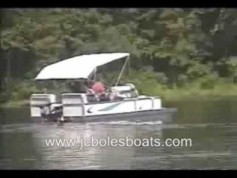 pontoon boat test  with 3 trolling motors