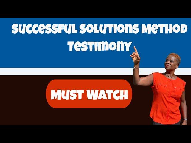 SSM| MyTestimony Successful Solution Methods Testimony