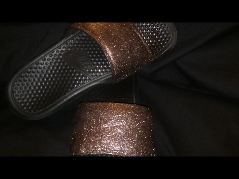 134a9ab79ed DIY Costume   Glitter Nike Sandals - YouTube