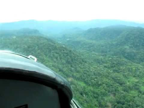 Approach to Haia airstrip at Crater Mountain, Eastern Highlands Province, Papua New Guinea