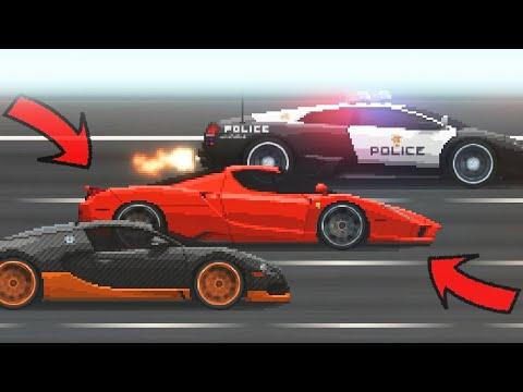 Pixel Car Racer - FERRARI VS. SUPERCAR COPS