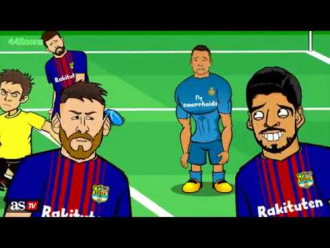 Parodia del clasico Barcelona vs Real Madrid 1 - 3