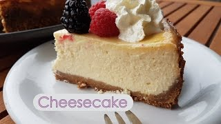 Tarta de queso al horno - Cheesecake estilo New York - Facil - Paso a paso