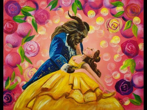 Beauty And The Beast Dancing Step By Beginner Acrylic Tutorial