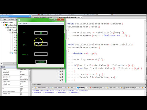 C++ Tutorial - Make a Calculator in C++ with wxWidgets and Codeblocks [Part 1]