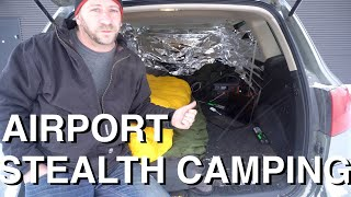 Stealth Camping In Airport Parking Lot With SUV (Highly Patrolled)