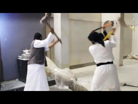 Islam destroys ancient artifacts in Mosul One artifact close to  2,700 years old
