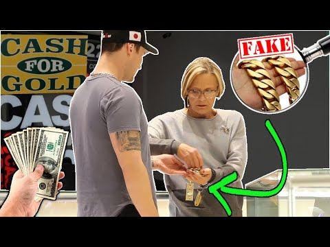 SELLING 5 POUNDS OF FAKE GOLD CHAINS TO CASH FOR GOLD!!