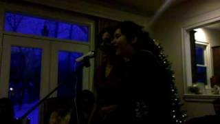 Laila and Sheida karaoke