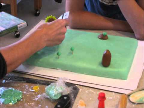 how to make a plants vs zombies cake