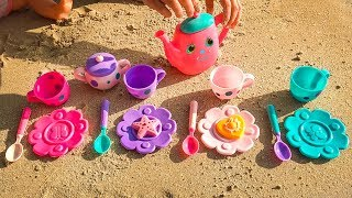 Baby Dolls and Colored cups toys Video for kids