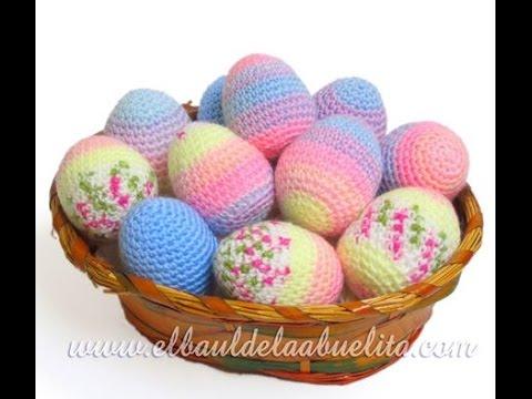 Tutorial Huevos de Pascua Amigurumi (parte 1 de 2) - YouTube