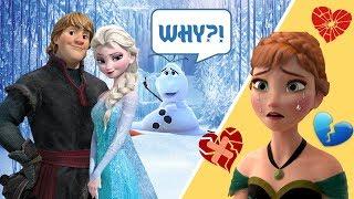 Anna Caught Elsa Kissing Her Boyfriend! Are They In-Love? Disney Frozen Elsa Love Trouble