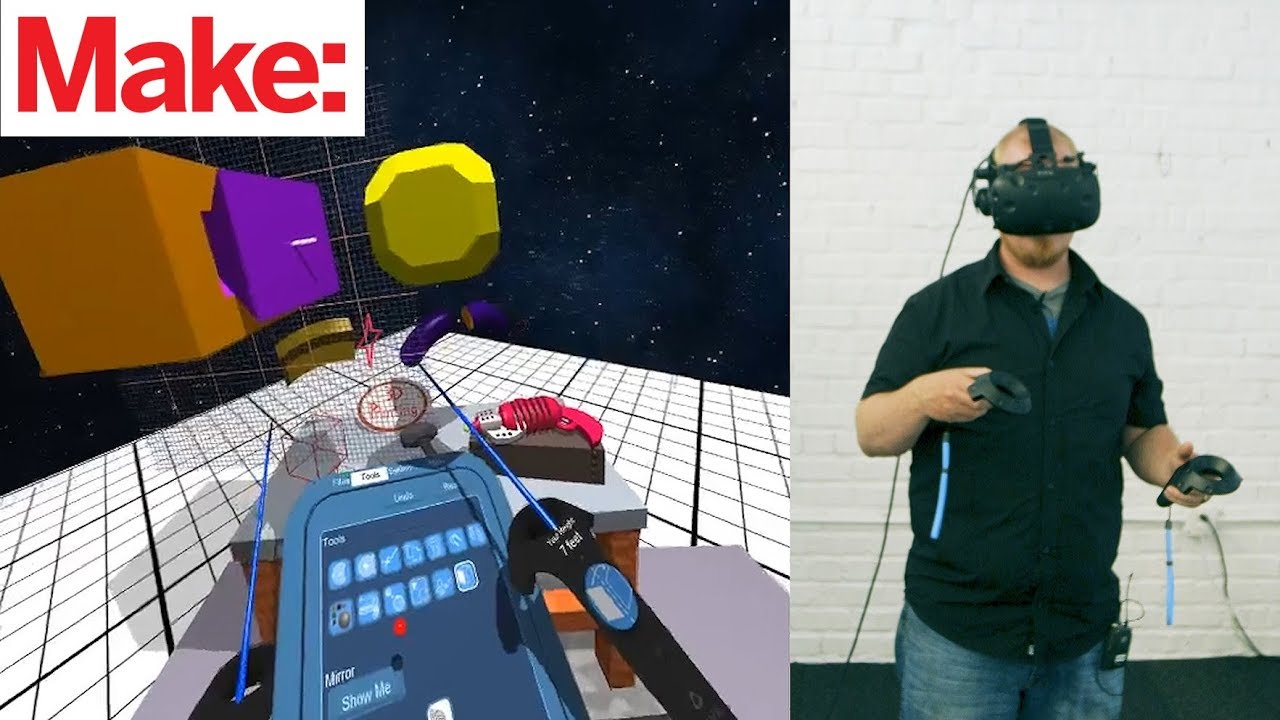 Ready Maker One: Introducing Make VR, a VR-based CAD System - YouTube