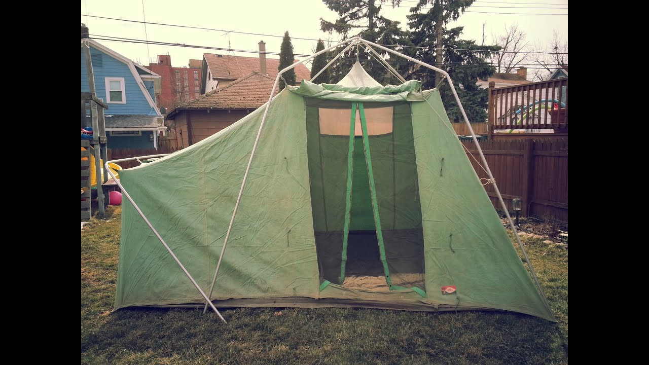 & Vintage Sears canvas Tent - 3-24-2013 - YouTube