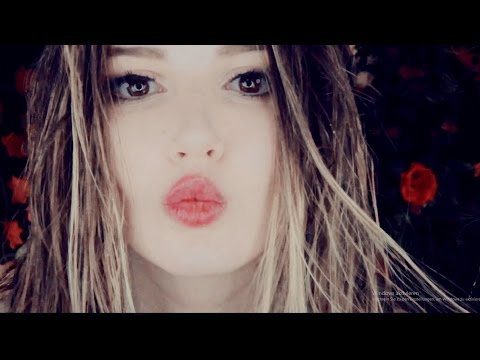 Crazy ASMR - 💄Kissing sounds💋 mouth sounds - applying lip gloss - unintelligible whisper