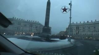 Минск 01 2011 Из окна свадебной машины