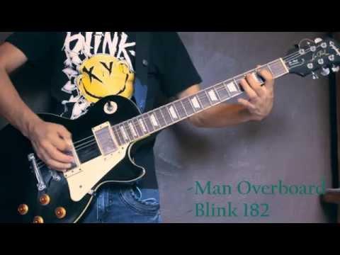 Blink 182 - Man Overboard (guitar cover)