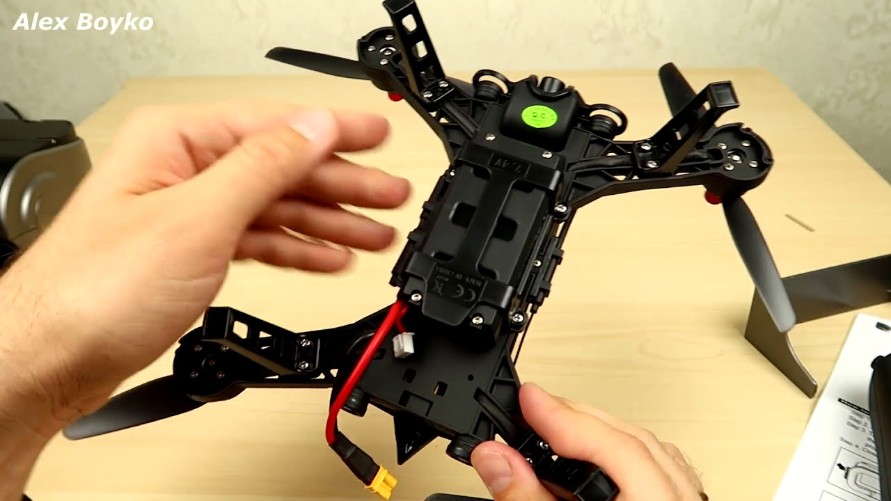 Квадрокоптер MJX Bugs 6 c Монитором и Шлемом для FPV. Посылка из Китая. Обзор. alex boyko фото