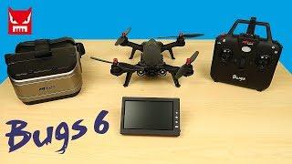 Квадрокоптер MJX Bugs 6 c Монитором и Шлемом для FPV. Посылка из Китая. Обзор.  alex boyko