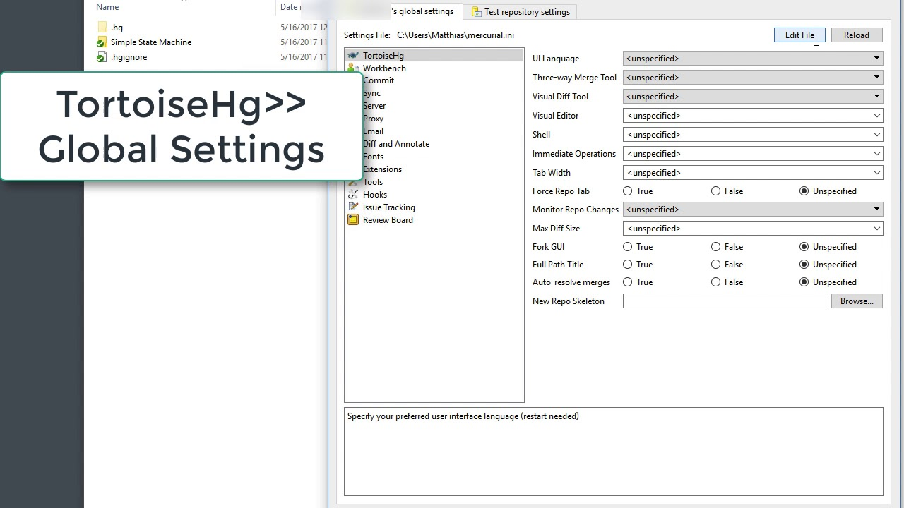Configuring Hg or Git to use LabVIEW Compare and LabVIEW