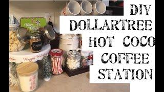 DIY Dollartree Hot Coco Station & Coffee Bar