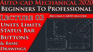AutoCAD Mechanical Tutorial For Beginners| [Complete] AutoCAD Tutorial for Mechanical Engineering
