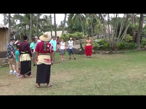 Throwing Spears At The Polynesian Cultural Center