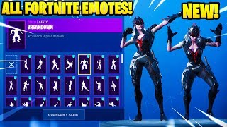 "*NEW* ""ARACHNE"" SKIN SHOWCASE WITH +90 FORTNITE DANCES & EMOTES..!"
