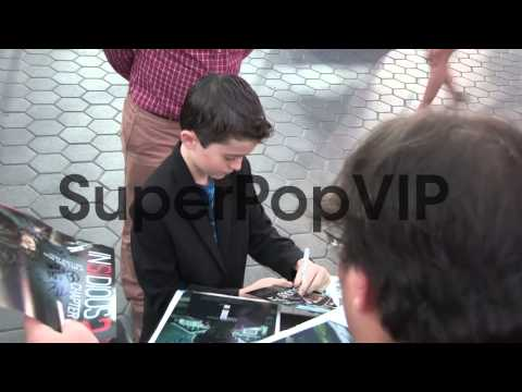 Andrew Astor greets  at the Insidious Chapter 2 Premi...