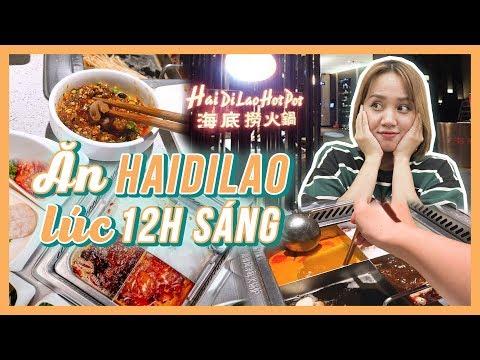 Đột Nhập Lẩu Sang Chảnh HAIDILAO Lúc 12h đêm - Đông Vui Không Tưởng???? | Châu Giang Nè!