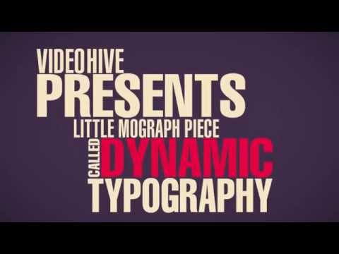 Dynamic Typography - Free After Effects Template
