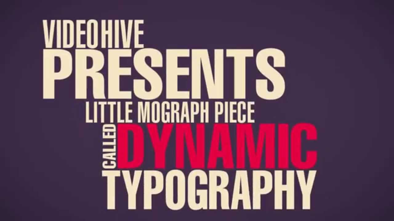 Dynamic Typography - Free After Effects Template - YouTube