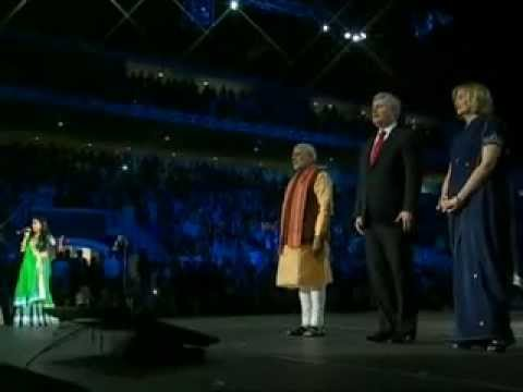 Indian PM Narendra Modi's ROCKSTAR ! ! ! Entry in Toronto,Canada's Stadium