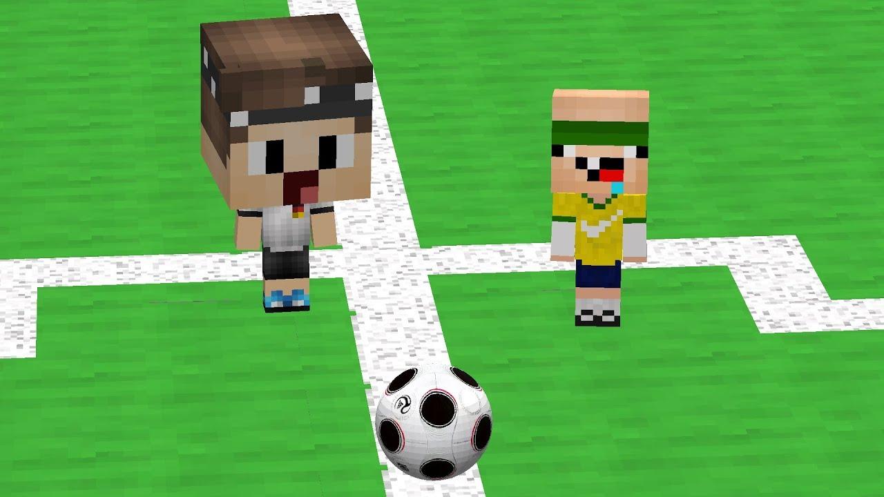WIR SPIELEN FUßBALL IN MINECRAFT YouTube - Minecraft fubball spielen deutsch
