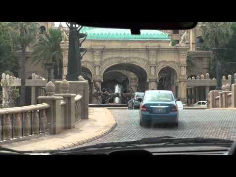 Driving around Sun City - South Africa