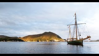 Tall Ship Sailing into Tasmania