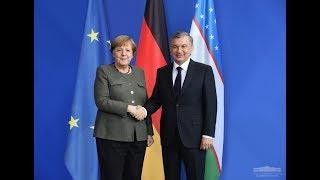 Шавкат Мирзиёев Германияда Ангела Меркел билан учрашди