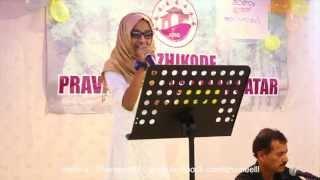 pathinalam ravu fame hadiya zakariya singing at kozhikode pravasi association qatar eid onam program