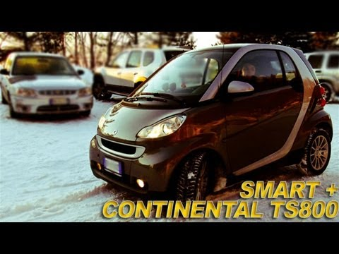 Smart Fortwo Contiwintercontact Ts 800 Neve E Ghiaccio Youtube