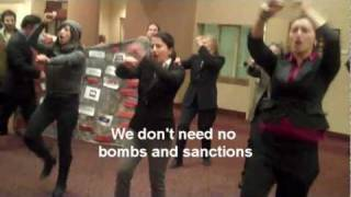 7 women arrested while singing we don t need aipac control