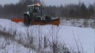 Fendt GTA 380 i pług do śniegu 5,4m