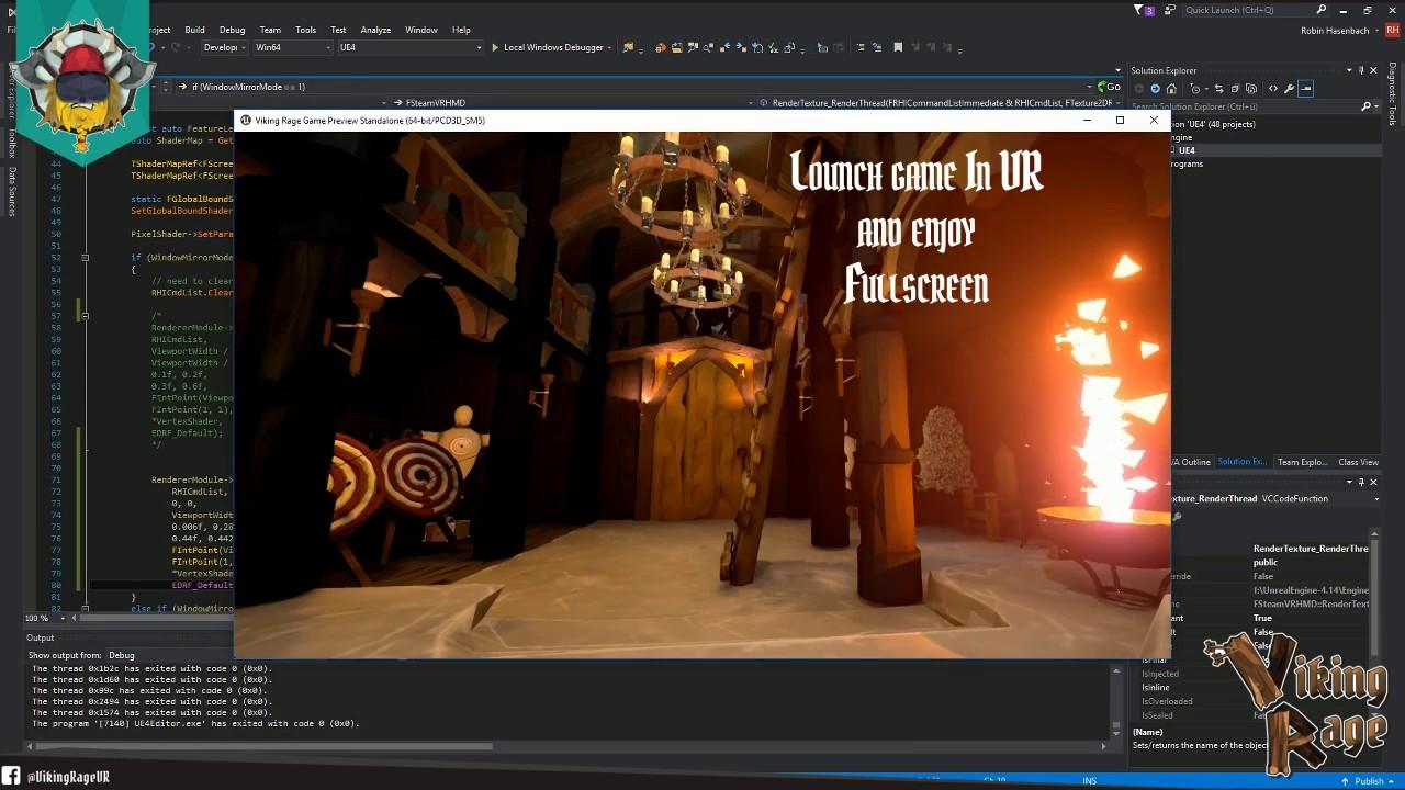 UE4 + HTC Vive Fullscreen VR Tutorial