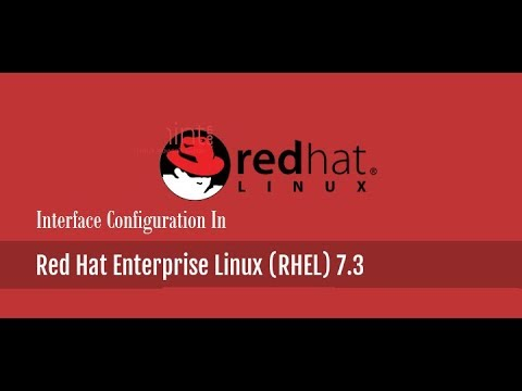 How to configure network interface in Redhat Enterprise Linux 7.3 [RHEL-7]