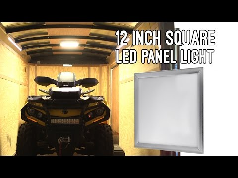 Square LED Panel Light Vehicle And Trailer 12V LED Task Light  1ft X 1ft