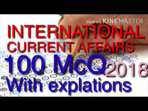INTERNATIONAL CURRENT AFFAIRS 100 MCQ (Right Academy)